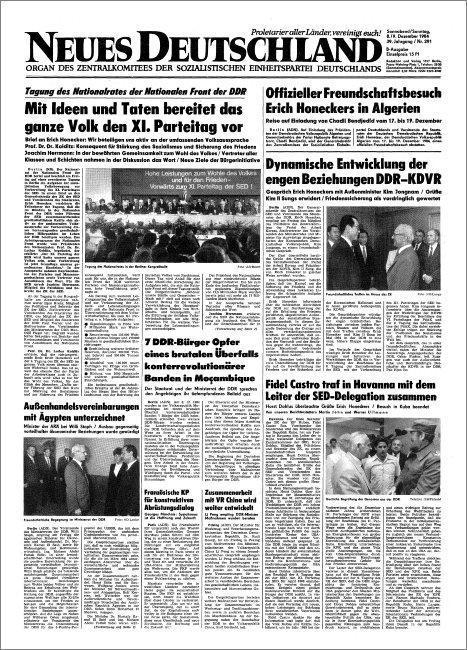 Ich benutzte Neues Deutschland als Waffe - ein Fetzen ließ die STASI das erste Mal vor Lauks erzittern