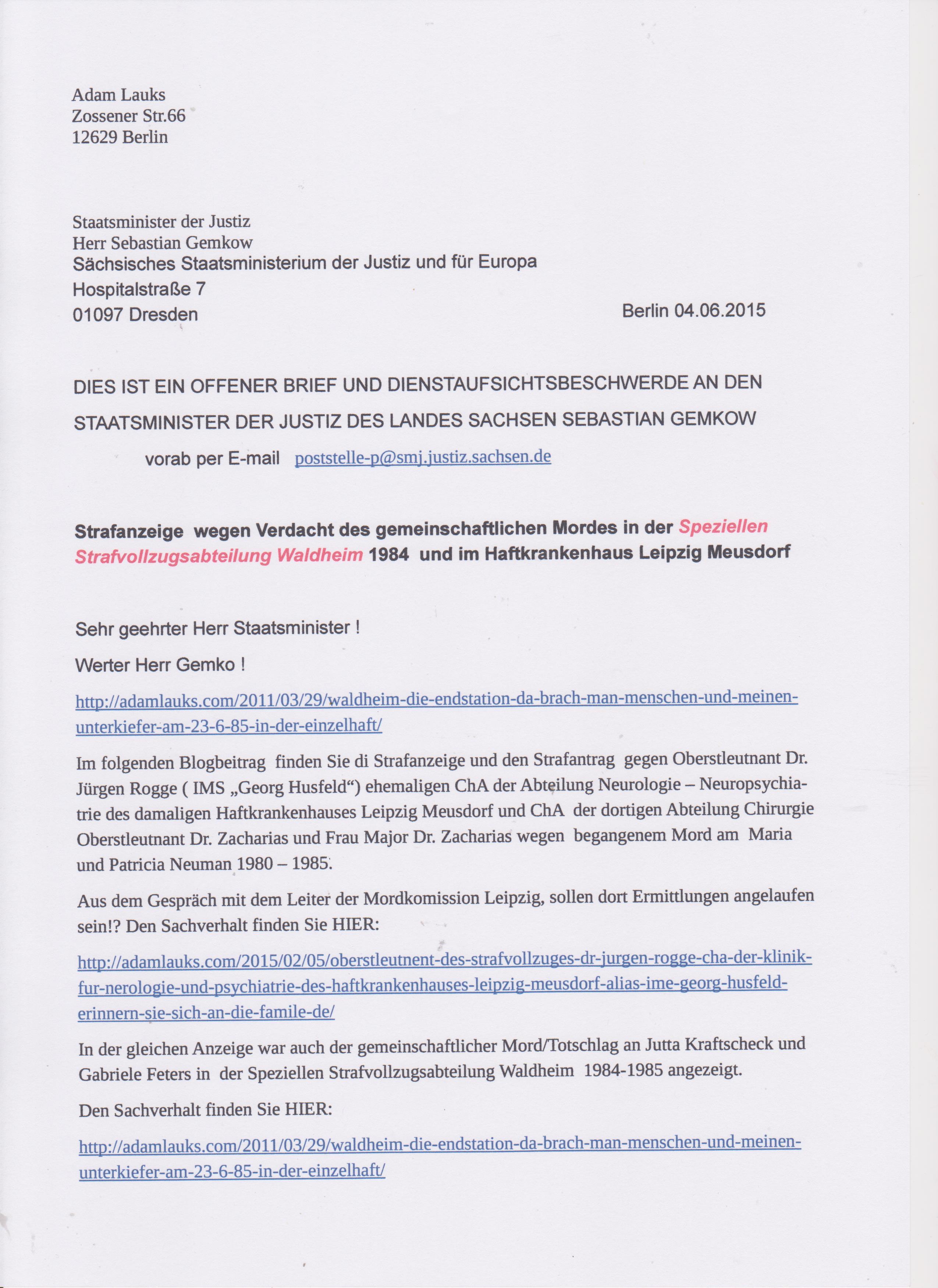 STASI – Mörder Sind Unter Uns – Dank Joachim Gauck Und Michael