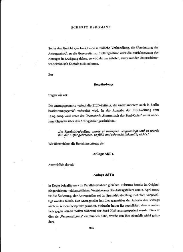 Übergriffe der Ärzte im HK Leipzig Meusdorf, des Oberstleutnant Dr. Zels >IME NAGEL und des Teams des Prof. Dr.Wendt im Haus 115 als Vergewaltigung zu bezeichnen, heisst Verschleierung von Straftaten, Täterschutz für STAZIS-Verbrecher..