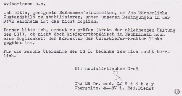 Das Zersetzung im Haftkrankenhaus Meusdorf befehligte OSL Dr. Jürgen Rogge