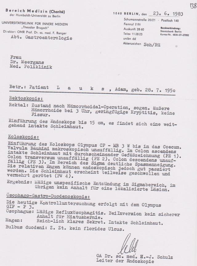Befund der Charite- der gesündeste SG von Rummelsburg am verbluten