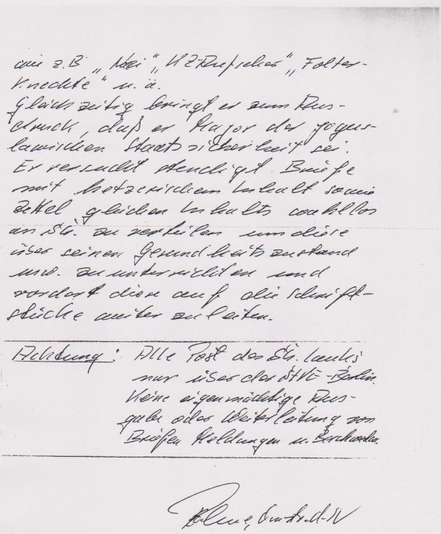 Verschleppung, Verleumdung, entfesselte Selbstjustiz im Zuchthaus Bln-Rummelsburg