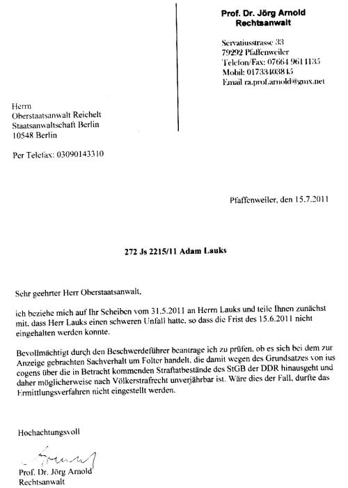 Es hat sich ein Mensch in Deutschland gefunden der die Folter beim Namen nennt