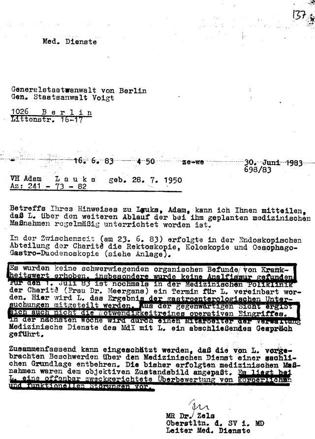 """IM NAGEL entschied über die""""lückenlose medizinische Betreuung"""" - med.Folter"""