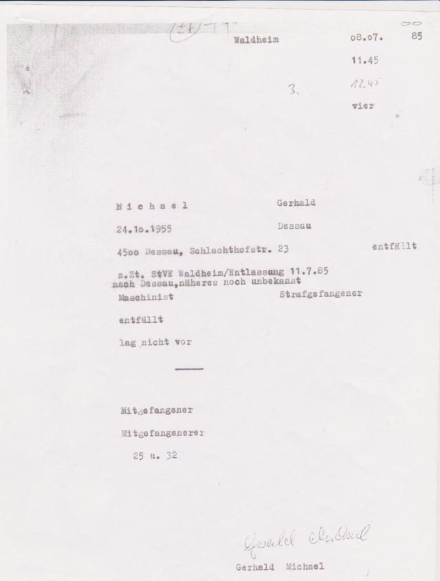 K ermittelt - Die Aussage eines Zelleninformanten der wegen Diebstahl einsaß