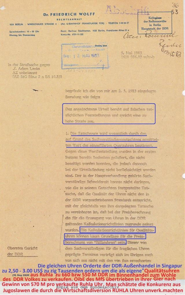 Zersetzung von Adam Lauks 1983.05.09.