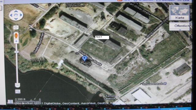 IM NAGEL -OSL Dr.Zels aus dem Haus 8(blaue Markierung) sieht das ich NICHT gefoltert wurde