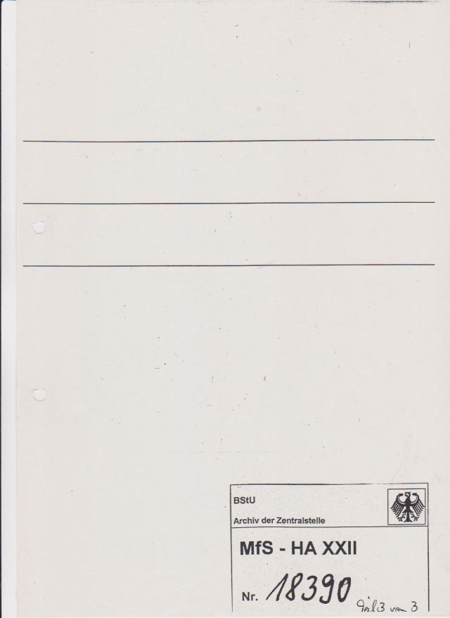 Mappe in der das Begleitschreiben  vom 3.2.1987 an Erich HOnecker  mit zwei Exemplaren der Zeitschrift MLADINA vom 2. und 16.1.1987 sich befanden