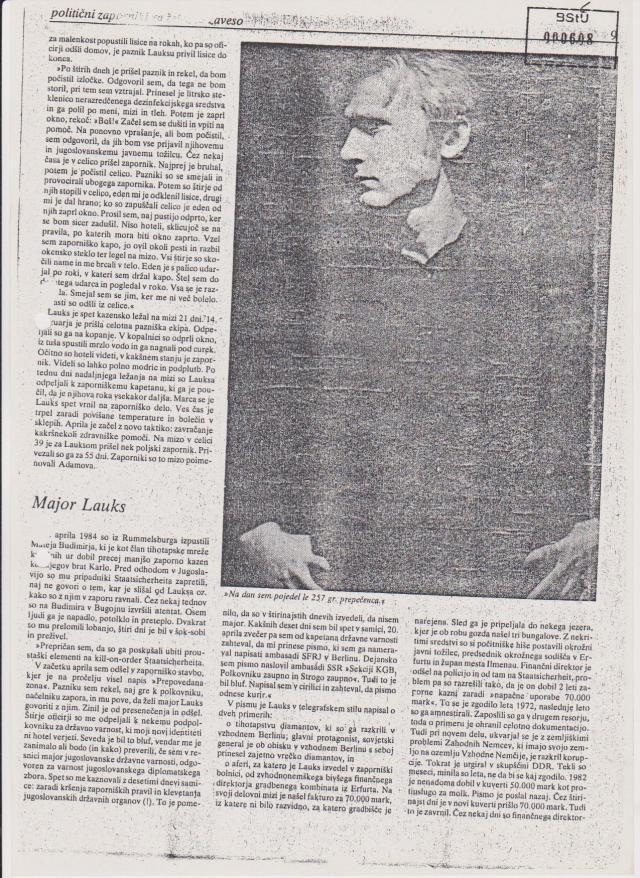Spezielle Strafvollzugsabteilung Waldheim: Unterkueferbruch links am 23.6.1985 7 Monate im Hungerstreik