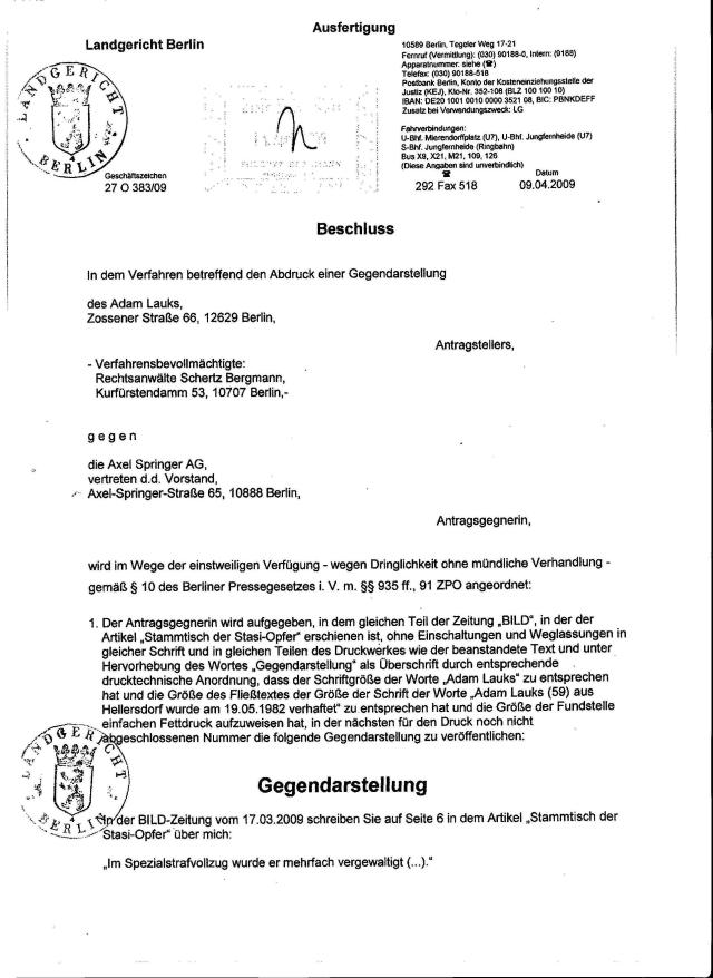 Ich war niemals in der DDR Haft 1982-1985 vergewaltigt worden