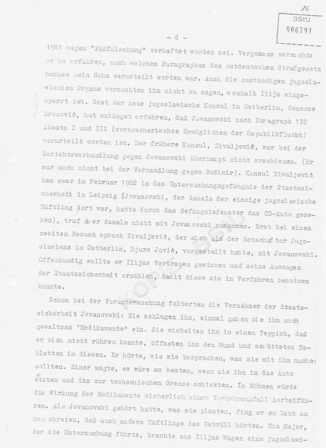 Consul Zivaljevic Radomir gab sich für Botschafter Jovic aus befahl Ilija Wahrheit zu sprechen