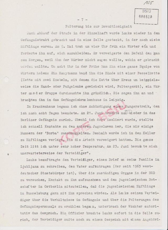 Folterung bis zur Bewußtlosigkeit... am 9.5.1984 wieder Zwangseinweisung ins HK