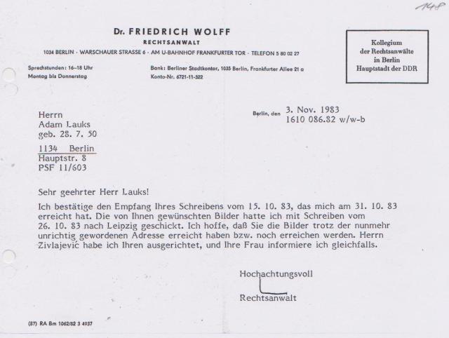 am 3. November 1984 tobte der Krieg gegen die STAZIS... in Leipzig HK Meusdorf