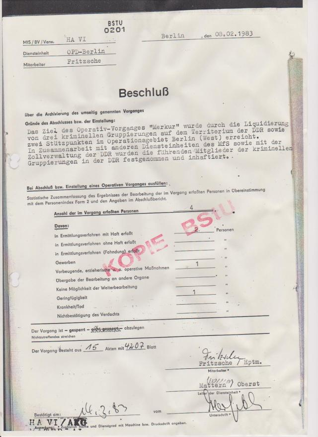 BSTU: 0201 -08.02.1983 Das Ziel des Operativ-Vorganges