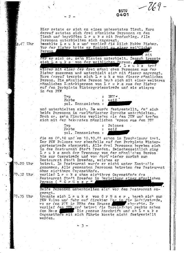 Vor der Eisbar hatte erv Kontakt zu einer weiblichen Person - zwei Zeilen sind geschwärzt  auf dem Blatt aus dem Band 1 und völlig unleserlich  in der Mappe für Mittig !??