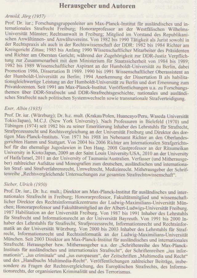 Das Gehirn der Deutschen Strafrechtwissenschaft wurde zu solch frühem Zeitpunkt vom hochkarätigsten MfSler aus dem B-Kader  geentert.