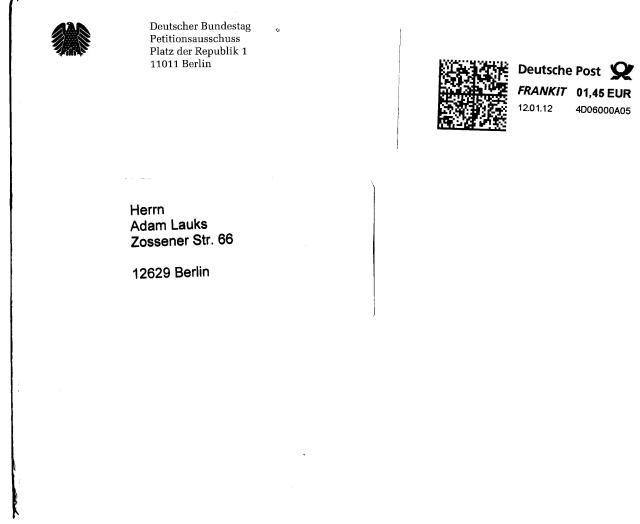 Betr. : Straftaten gegen das Leben Bezug: Ihr Schreiben vom 20.11.2012