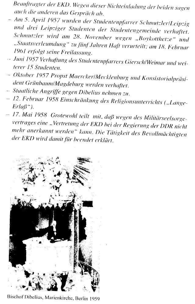 Am 5.4.1957 wurden Studentenpfarrer Schmutzler/Leipzig und drei Studenten verhaftet