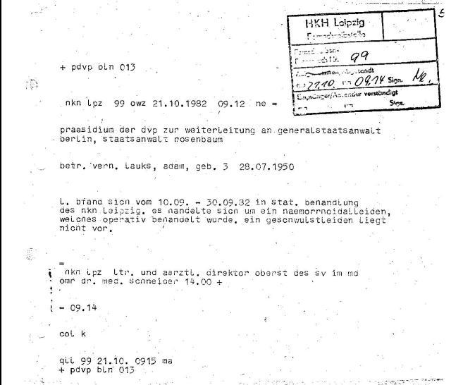 HKH Leipzig Leiter und ärztliche Direktor Oberst des sv im md OMR dr. med. Schneider