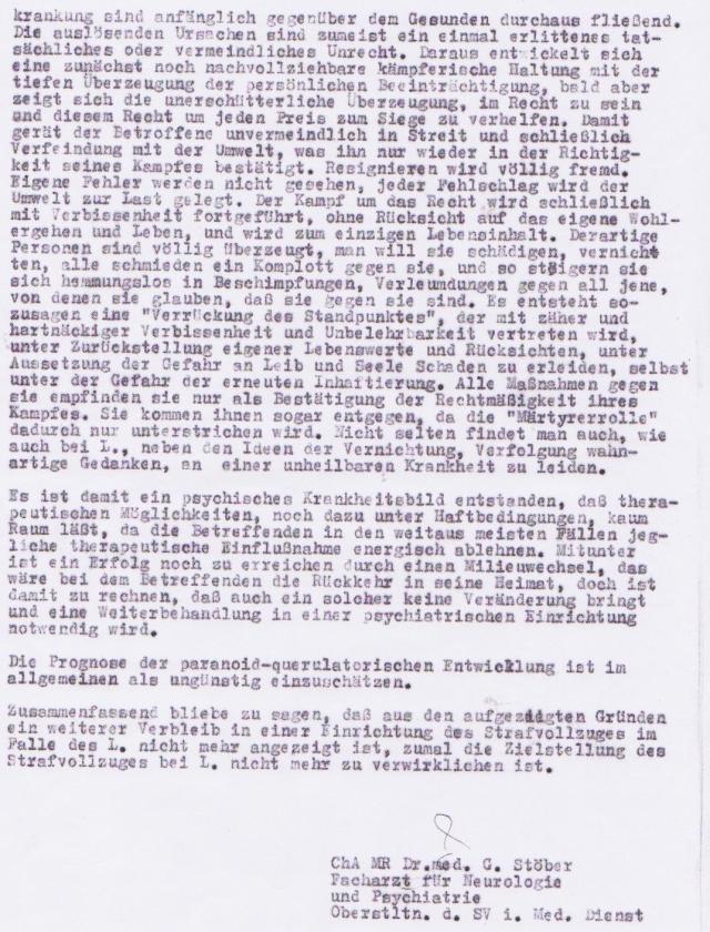Dieaswer Bericht ehrt mich als Feind der DDR Nr. 1 zu dem ich gemacht,bzw geworden bin. Es ist ein Respekt zu meinem gnadenlos und ohne Rücksicht auf Verluste geführt wurde.