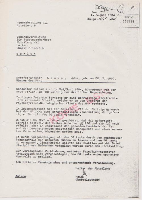 Adam Lauks und Kurt Tucholsky  hetzten gegen die DDR