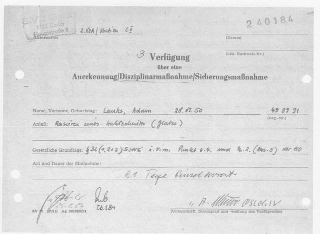 Verfügungen im Krieg und Frieden  Adam Lauks gegen MfD Dchergen 001