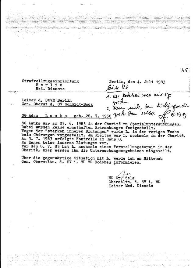 IME NAGEL - blanke Killer im Arztmantel. MR Oberstleutnant Dr. Erhard Zels hier im vollen Einsatz: KEINE OPERATION zeichnet sich ab! Ich war an jenem Freitag mit der kleinen MINNA durch Berlin gefahren, damit Konsul ZIvaljevic mich nicht sprechen kann. 2. Jahre später habe ich in Waldheim dem Honecker die Endabrechnung verfasst...