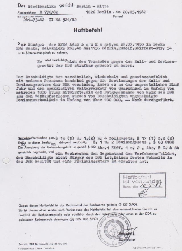 Weil MfS in der DDR die Richtung vorgab-nicht die SED- wurde die Ausweisung verhiundert.