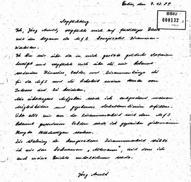 Wasw wollte Leiter der Forschungsgruppe des MPI vom Folteropfer der STASI nach 30 Jahren !??