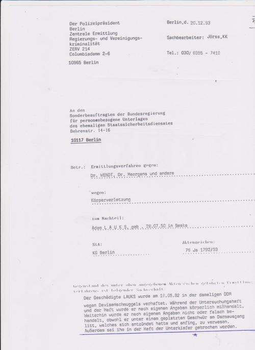 Gauckbehörde handelte gesetzwidrig und behielt die Beweise zurück.