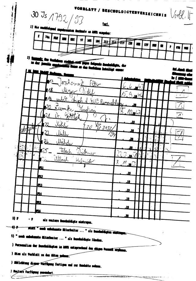 30 Js 1792 93 Ermittlungsverfahren der Staatsanwaltschaft II Bln 001