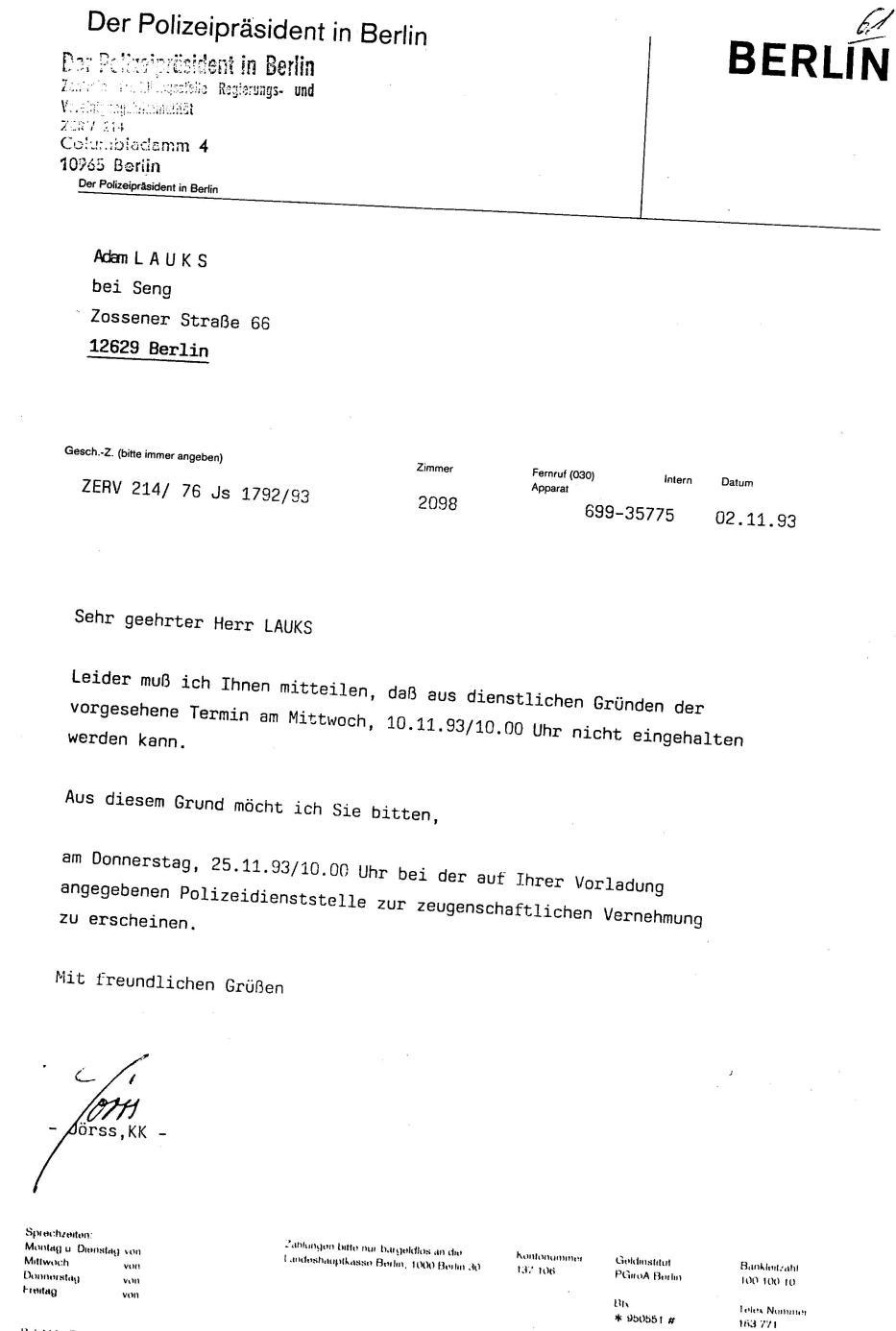 30 Js 1792 93 Ermittlungsverfahren der Staatsanwaltschaft II Bln 013
