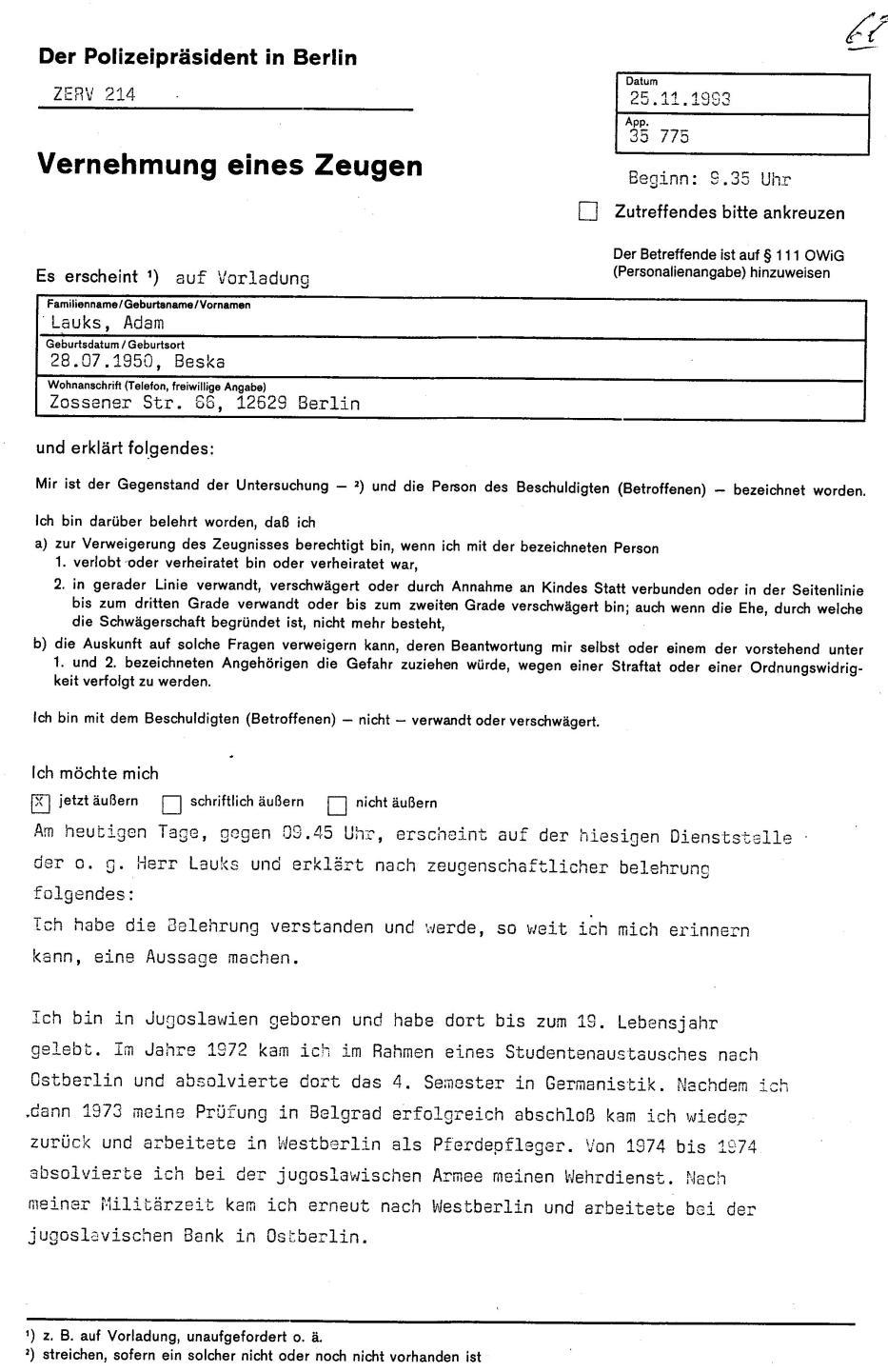 30 Js 1792 93 Ermittlungsverfahren der Staatsanwaltschaft II Bln 014