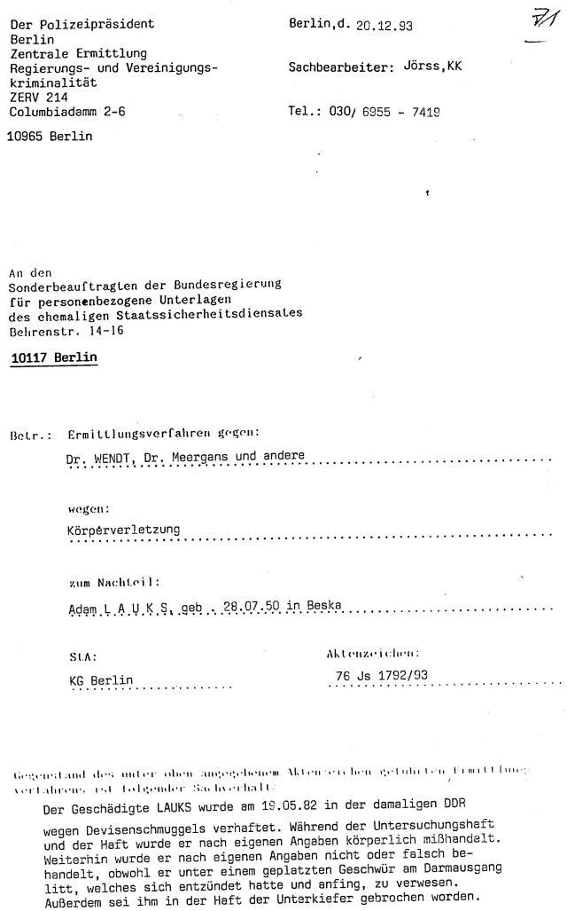 30 Js 1792 93 Ermittlungsverfahren der Staatsanwaltschaft II Bln 022