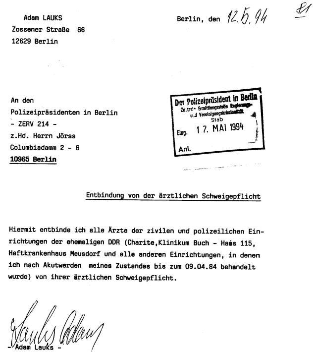 30 Js 1792 93 Ermittlungsverfahren der Staatsanwaltschaft II Bln 033