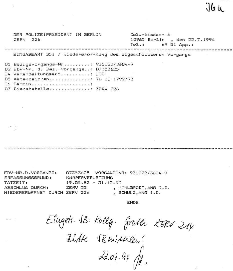 30 Js 1792 93 Ermittlungsverfahren der Staatsanwaltschaft II Bln 051