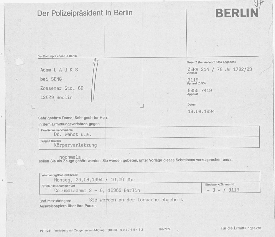 30 Js 1792 93 Ermittlungsverfahren der Staatsanwaltschaft II Bln 053