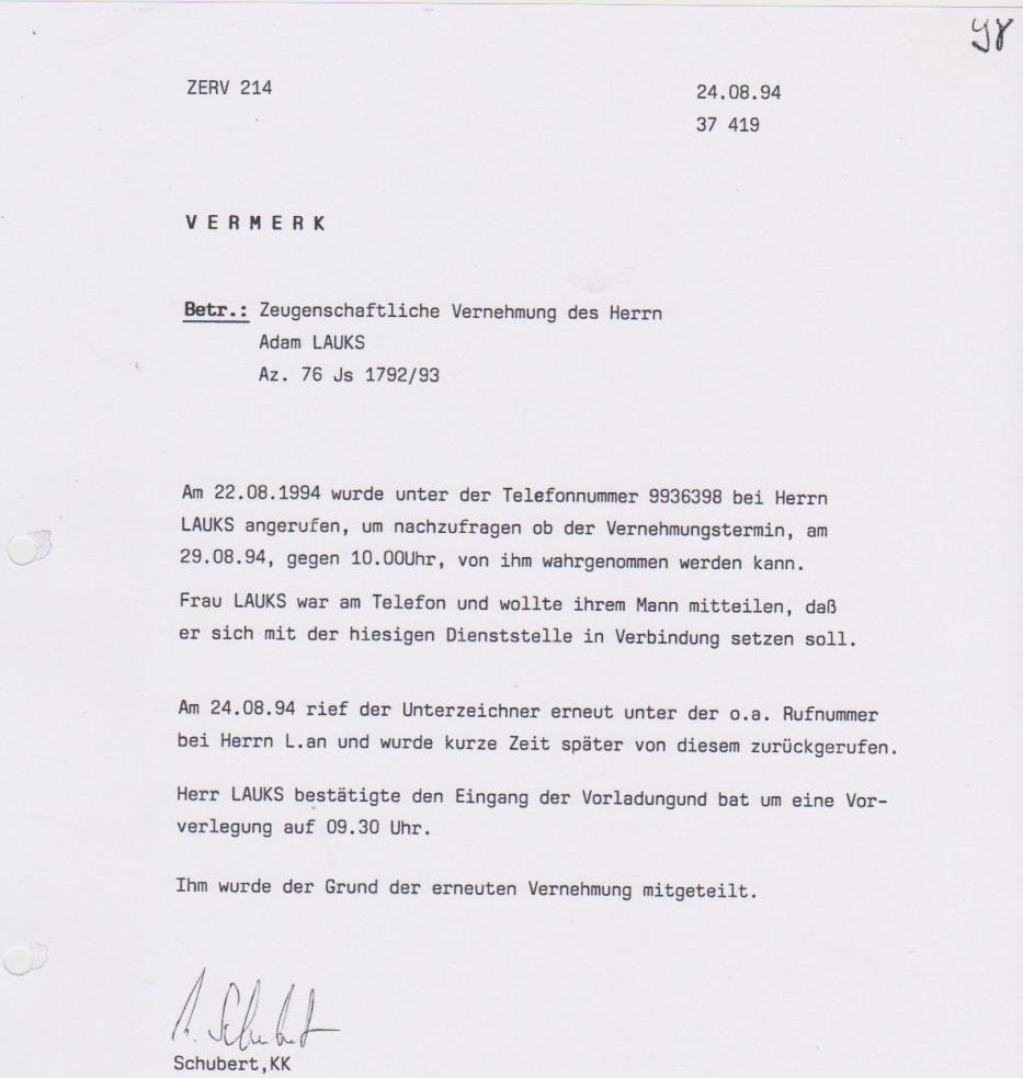 30 Js 1792 93 Ermittlungsverfahren der Staatsanwaltschaft II Bln 054