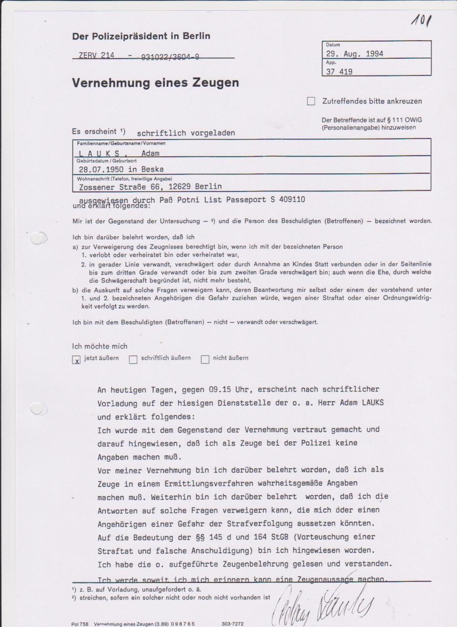 30 Js 1792 93 Ermittlungsverfahren der Staatsanwaltschaft II Bln 057