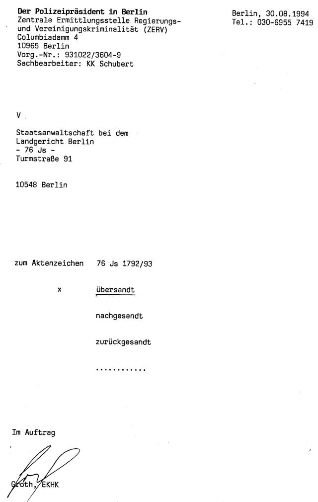30 Js 1792 93 Ermittlungsverfahren der Staatsanwaltschaft II Bln 066