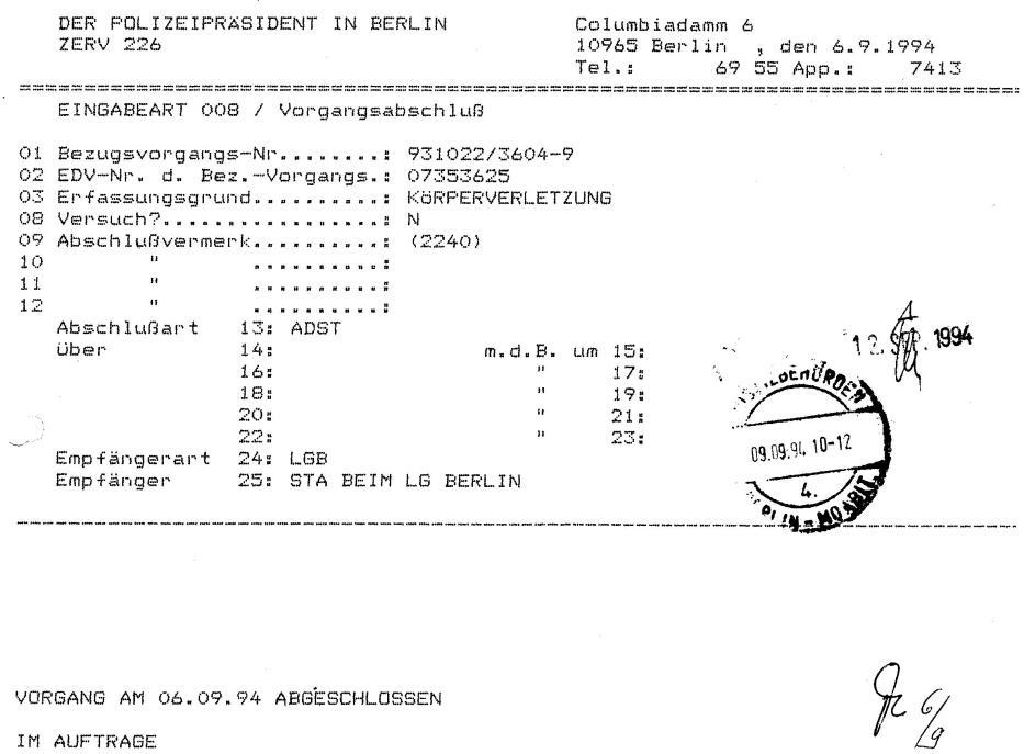 30 Js 1792 93 Ermittlungsverfahren der Staatsanwaltschaft II Bln 067