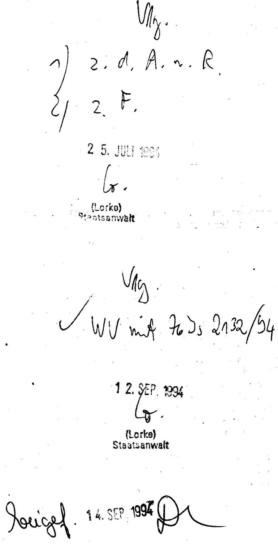 30 Js 1792 93 Ermittlungsverfahren der Staatsanwaltschaft II Bln 070
