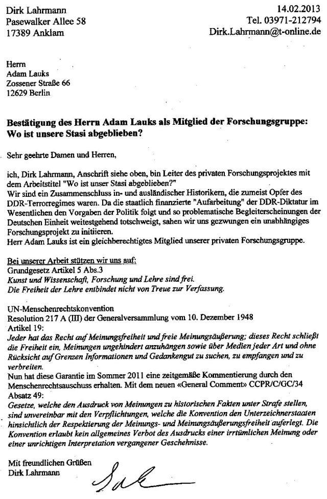Berliner Datenschutzbeauftragter 4.2.2013