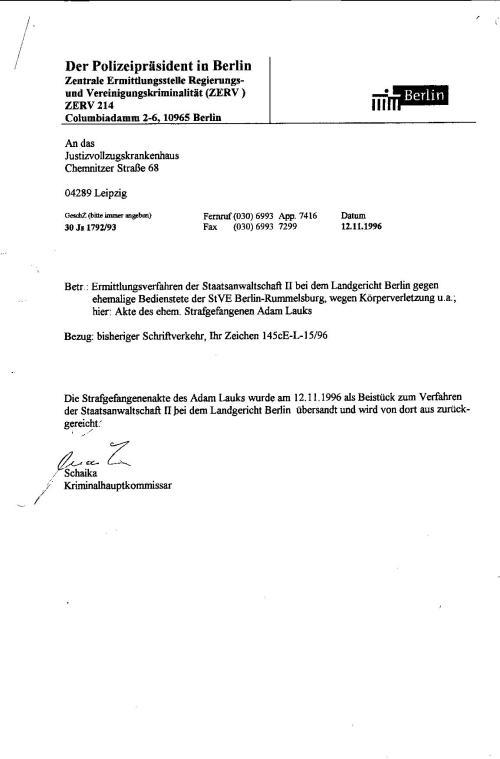 Ermittlungsverfahren 30 Js 1792 93 010