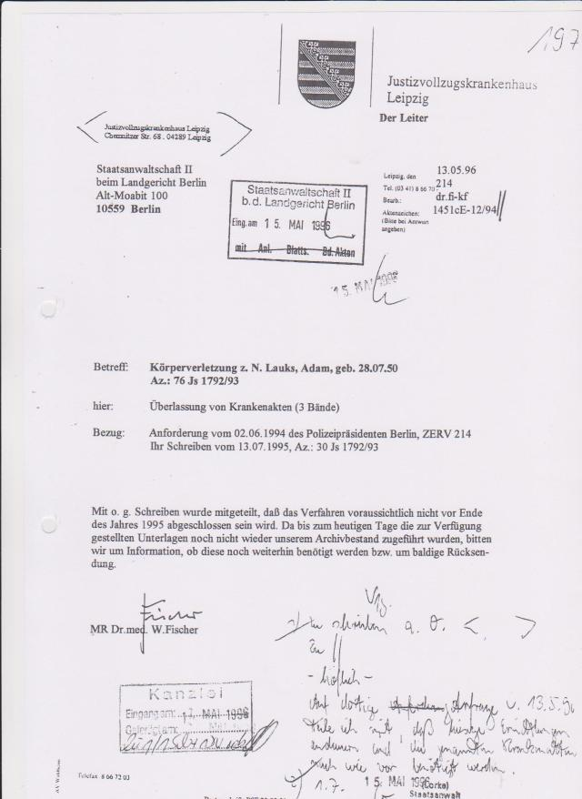 Ermittlungsverfahren 30 Js 1792 93 021