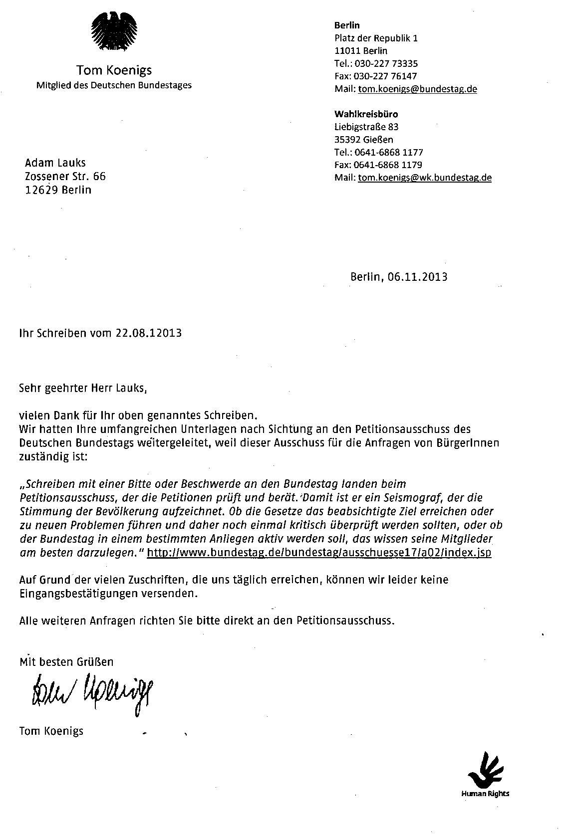 Brief Für Lehrerin Schreiben Volksentscheid über Die Offenlegung