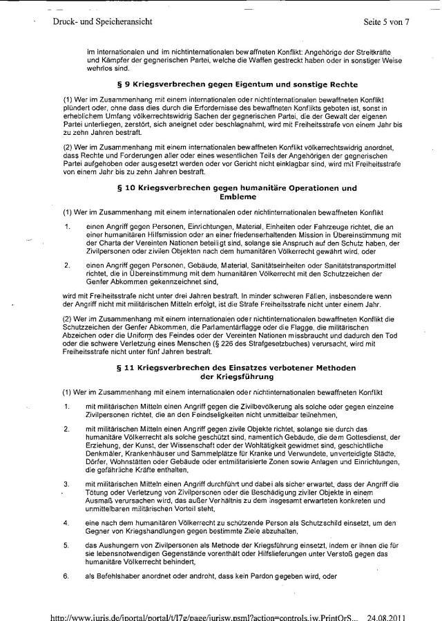 Ermittlungsverfahren auf Strafantrag wg. Folter 272 Js 2215 -11 005