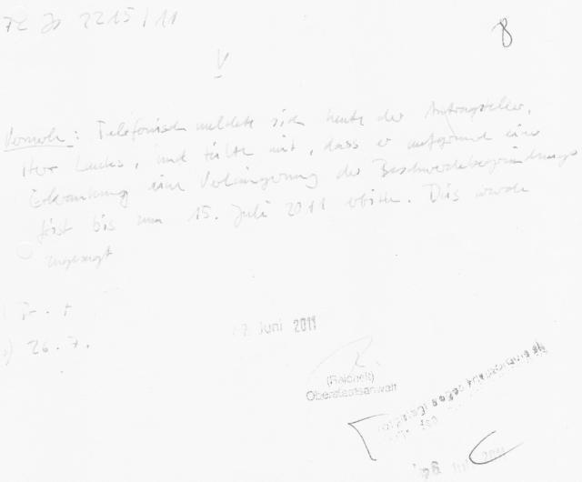 Ermittlungsverfahren auf Strafantrag wg. Folter 272 Js 2215 -11 014