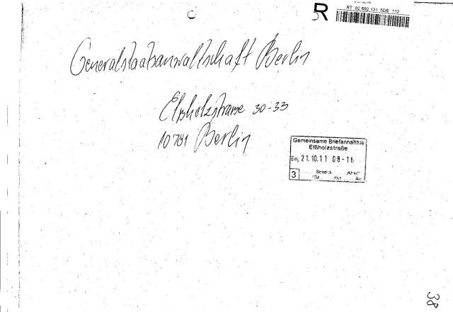Ermittlungsverfahren auf Strafantrag wg. Folter 272 Js 2215 -11 043
