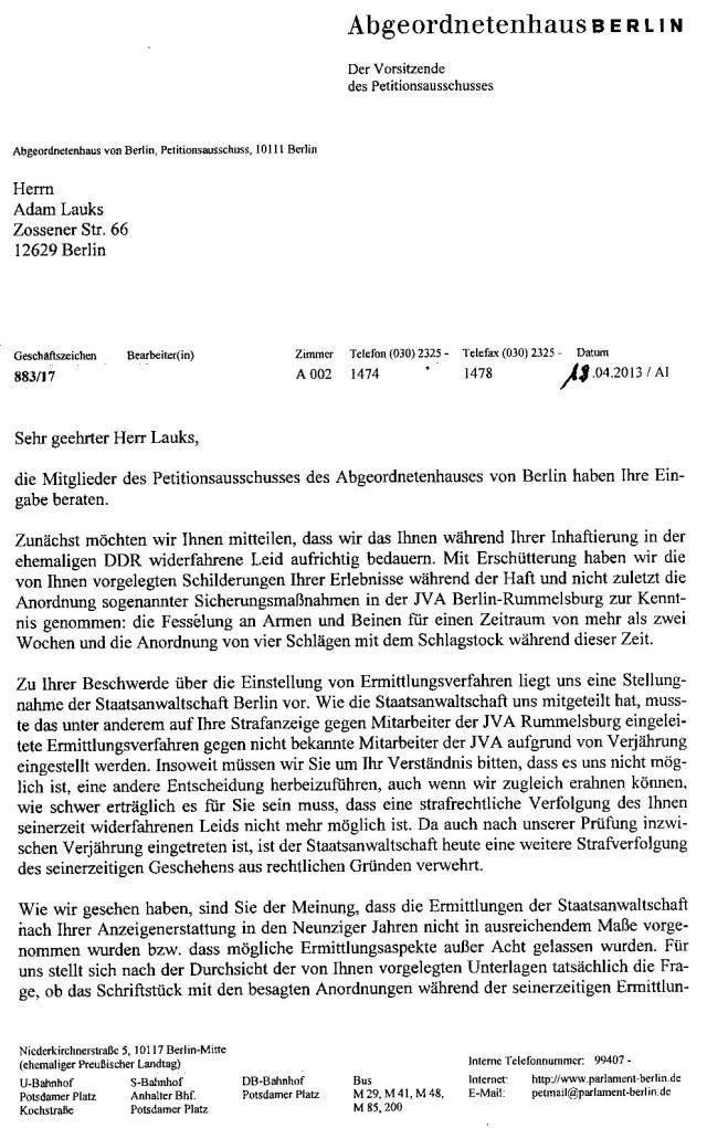 19.4.2013 Abgeordnetenhaus von Berlin